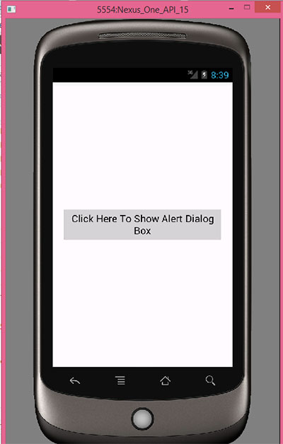 Display alert dialog box in android example tutorial
