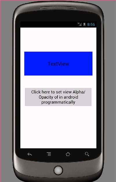 Change view Alpha/Opacity of in android programmatically