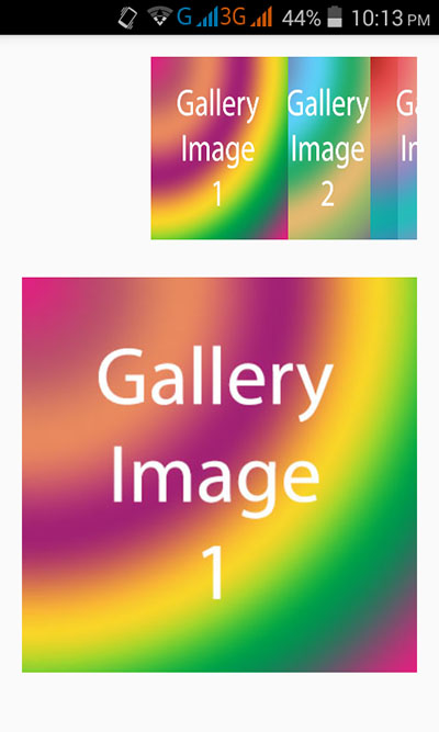 Android Gallery view widget example tutorial with source code Download