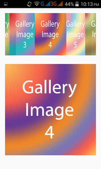 Create image gallery view in android application example