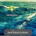 How to detect back button is pressed in android