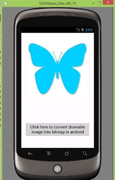 Convert drawable image into bitmap in android