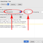 How to Increase font size in android studio code editor