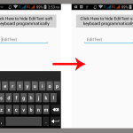 Hide EditText soft keyboard on android programmatically on button click