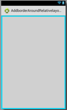 Add border around relativelayout in android with custom background