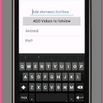 Add item in listview in android programmatically using Edittext Add button