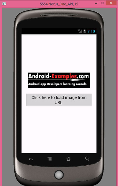 Load image inside ImageView from HTTP URL in android using AsyncTask