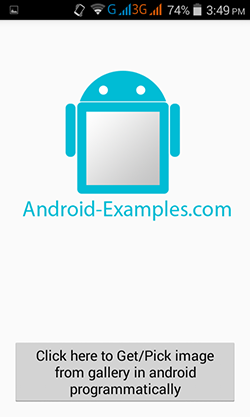 Get/Pick image from gallery in android programmatically - Android