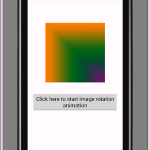 Android imageview image rotate animation example programmatically