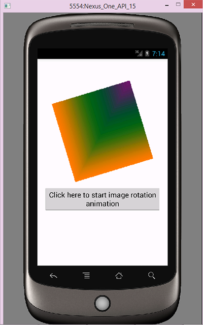 Android Imageview Image Rotate Animation Example