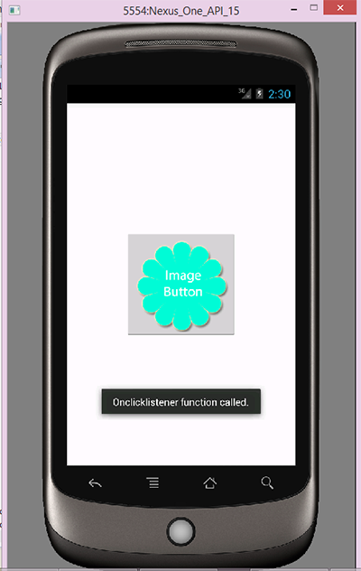 Set onclicklistener on ImageButton in android programmatically example