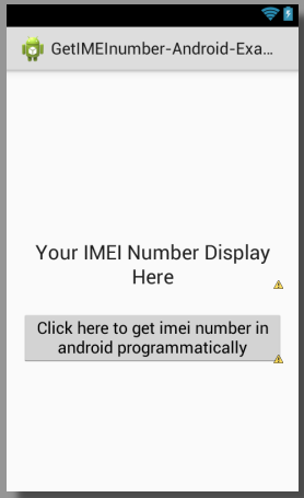 imei number - How To Get Imei Number In Android Studio Programmatically