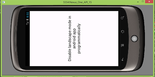 Disable landscape mode in android app programmatically