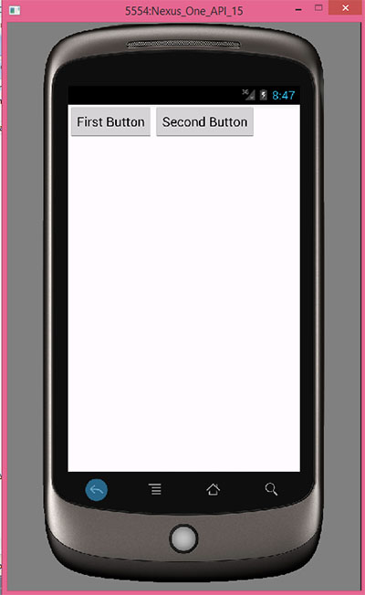 Creating horizontal linearlayout programmatically android