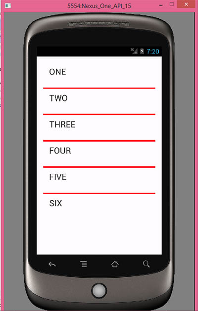 Change listview separator line color in android example