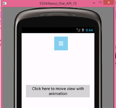 Move view with animation effect in android from left to right