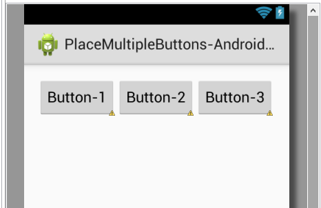 Place two or Multiple buttons side by side in relativelayout android