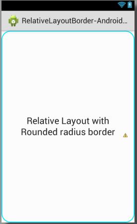 Set rounded corner radius border to relativelayout android