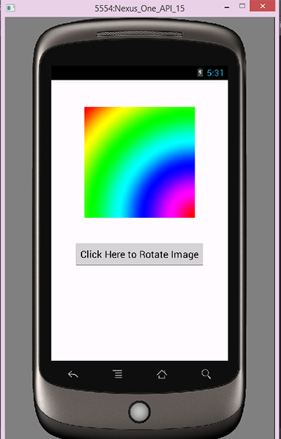 Android rotate imageview image programmatically example