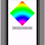 Android rotate imageview image programmatically example tutorial