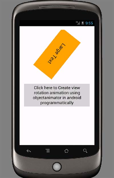 Create view rotation animation using objectanimator in android programmatically