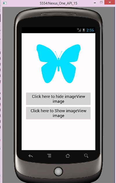 Hide Show imageview on button click android programmatically