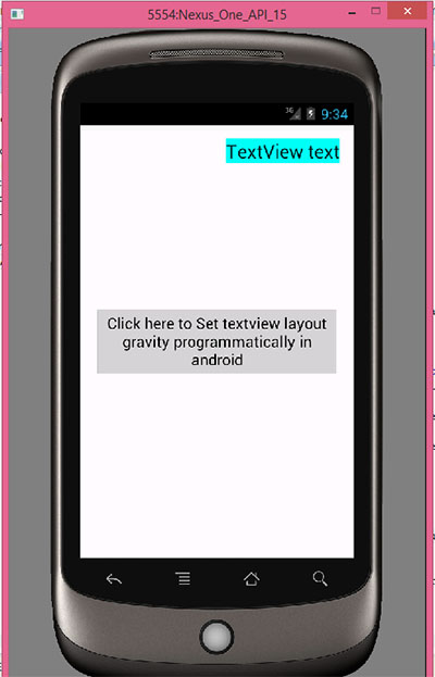 Set textview whole layout gravity programmatically in android