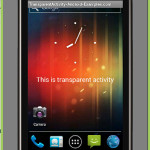 Create transparent activity in android with transparent background