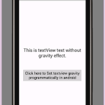 Set textview gravity programmatically in android