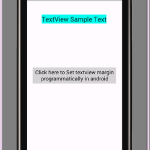 Set textview margin programmatically in android