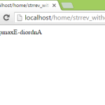 Reverse string without strrev function in php using looping control