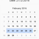 Android Show CalendarView widget example tutorial with Source code