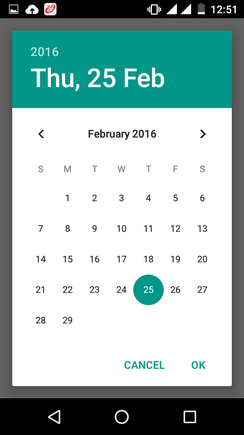 Change DatePickerDialog theme in android using DialogFragment