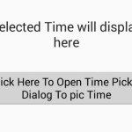 Create TimePickerDialog to select time in 12 hours format with AM PM in android