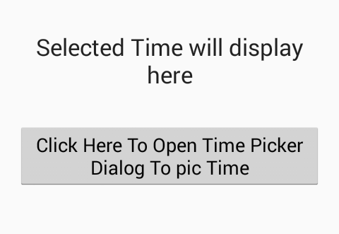 Create TimePickerDialog to select time in 12 hours format with AM PM