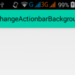 Change Actionbar background color in android programmatically