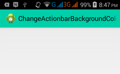 Change Actionbar background color in android