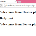 How to include header and footer in PHP page example