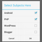 Show/Create AlertDialog with multiple choices in android