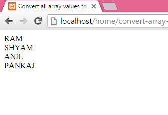convert all array values to uppercase in PHP