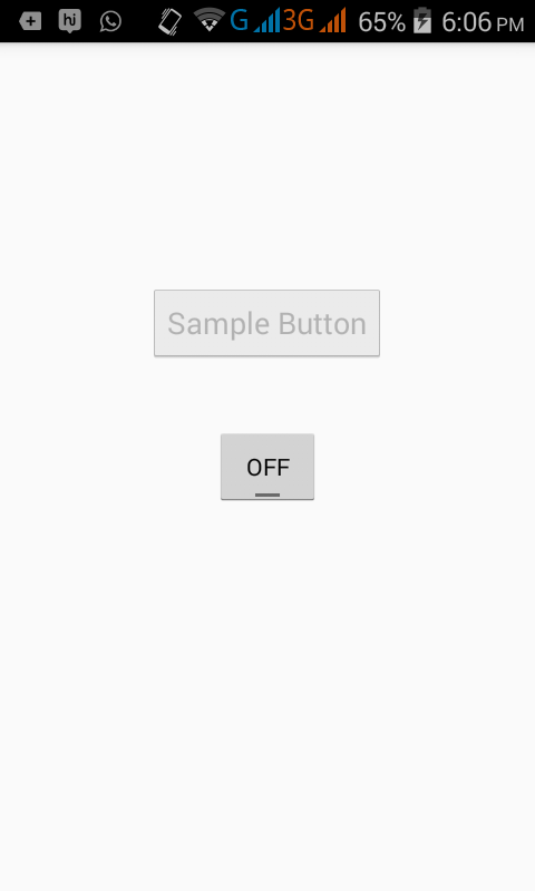 Enable Disable button in android programmatically