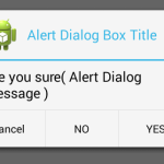 Create AlertDialog box with Yes NO Cancel button in android