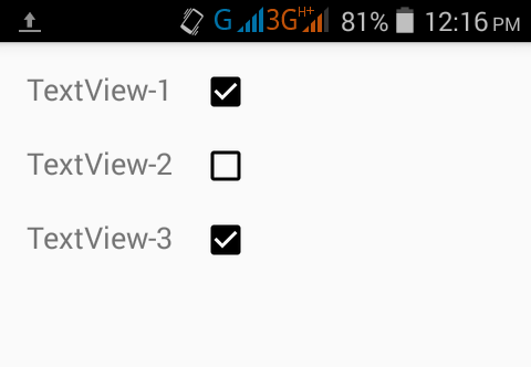 Set Checkbox align right side of Textview in android XML