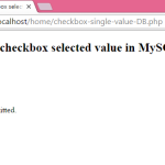 PHP Insert checkbox selected value in MySQL database