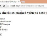 How to Get/Send Multiple checkbox selected value in php to another page