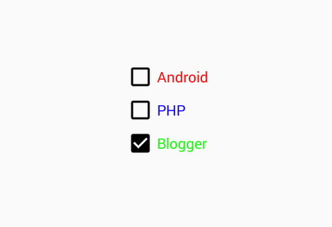 How to change CheckBox text color in android using XML