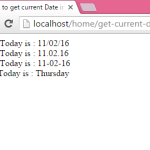 How to get current Date in php with Day/Month/Year format
