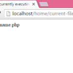 How to get current executing file script name in PHP