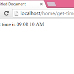 How to get current time in php code and show using Echo