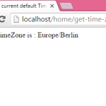 Get/Detect current default TimeZone in PHP code example